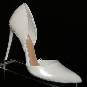 Forever 21 gray man made d'orsay pump heel 7.5